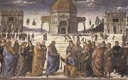 Pietro Perugino Christ Giving the Keys to Saint Peter oil painting artist