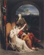Richard Westall Queen Judith reciting to Alfred the Great (mk47) oil painting artist