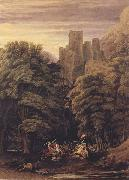 William Turner of Oxford A Scene in the vicinity of a Baronial Residence in the reign of Stephen (mk47) oil painting picture wholesale