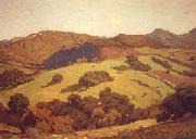 William Wendt Arcadian Hills oil painting artist