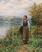 Daniel Ridgeway Knight The fishman wife oil painting artist