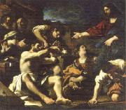 GUERCINO raising of lazarus oil painting artist
