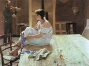 Richard Bergh after the pose oil painting artist