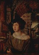 Ambrosius Holbein Portrait of a Young Man, oil painting artist