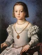 BRONZINO, Agnolo The Illegitimate Daughter of Cosimo I de' Medici oil painting artist