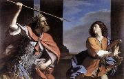 GUERCINO Saul Attacking David oil painting artist