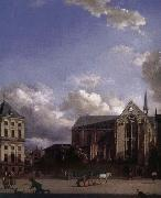 Jan van der Heyden Grand Place oil painting artist