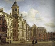 Jan van der Heyden City Hall and Plaza oil painting artist