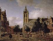 Jan van der Heyden Old church landscape oil painting artist