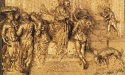 Lorenzo Ghiberti Isaac Sends Esau to Hunt oil painting artist