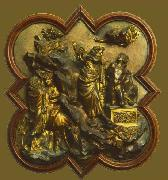Lorenzo Ghiberti Sacrifice of Isaac oil painting artist