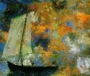 Odilon Redon Flower Clouds, oil painting artist