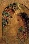 Odilon Redon Lady of the Flowers oil painting artist