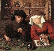 Quentin Matsys The Moneylender and his Wife oil painting artist