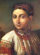 Vasily Tropinin Girl from Podillya, oil painting artist
