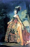 Alexander Roslin Portrait of Grand Duchess Maria Fiodorovna at the age of 18 oil painting artist