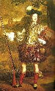 John Michael Wright unknown scottish chieftain, c. oil painting artist