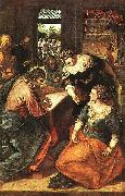 TINTORETTO, Jacopo Christus bei Maria und Martha oil painting artist