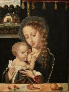Anonymous Madonna and Child Nursing oil painting artist