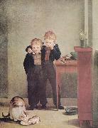 Georg Friedrich Kersting Kinder mit Katzen oil painting artist