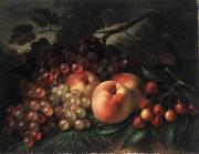 George Henry Hall Peaches Grapes and Cherries oil painting artist