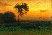 George Inness Sunrise oil painting artist