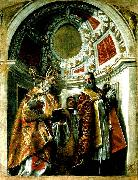 Paolo  Veronese ss. geminianus and severus and severus oil painting artist