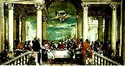 Paolo  Veronese feast of st. gregory the great oil painting artist