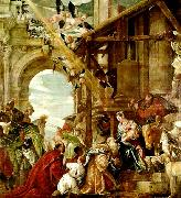 Paolo  Veronese adoration of the magi oil painting artist