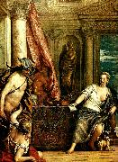 Paolo  Veronese mercury, herse and aglauros oil painting artist