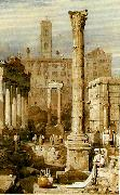 Samuel Prout rome the forum oil painting artist