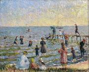 William Glackens Bathing at Bellport Long Island oil painting artist