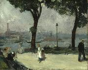 William Glackens East River Park oil painting artist