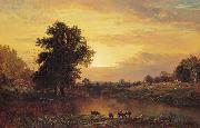 Alfred Thompson Bricher Sunset in the Catskills oil painting artist