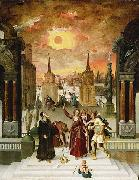 Antoine Caron Dionysius Areopagite and the eclipse of Sun oil painting artist