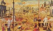 Antoine Caron The Massacre of the Triumvirate oil painting artist