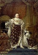 Baron Antoine-Jean Gros Portrait of Louis XVIII in his coronation robes oil painting artist