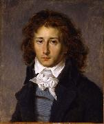 Baron Antoine-Jean Gros Portrait of Francois Gerard, aged 20 oil painting artist