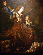 CAVAROZZI, Bartolomeo Guardian angel oil painting artist