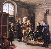 Carl Christian Vogel von Vogelstein Ludwig Tieck sitting to the Portrait Sculptor David d'Angers oil painting artist