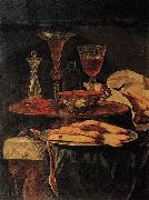 Christian Berentz Still-Life with Crystal Glasses and Sponge-Cakes oil painting artist