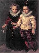 Cornelis Ketel Double Portrait of a Brother and Sister oil painting artist