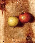 DeScott Evans De Scott Evans: Hanging Apples oil painting artist