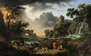 Emile Jean Horace Vernet Mountain Landscape with Approaching Storm oil painting artist