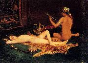Hermann Faber Reclining Odalisque oil painting artist