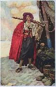Howard Pyle The Buccaneer was a Picturesque Fellow oil painting artist