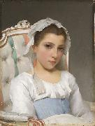 Hugo Salmson Portrait of a young girl oil painting artist