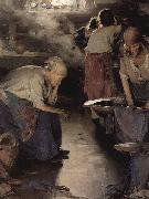 Ilja Jefimowitsch Repin The Washer Women oil painting artist