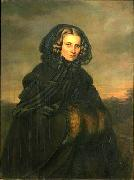 Isaac Grunewald Portrait of Bertha Wehnert-Beckmann (1815-1901), German photographer oil painting artist