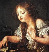 Jean Baptiste Greuze Young Girl Weeping for her Dead Bird oil painting artist